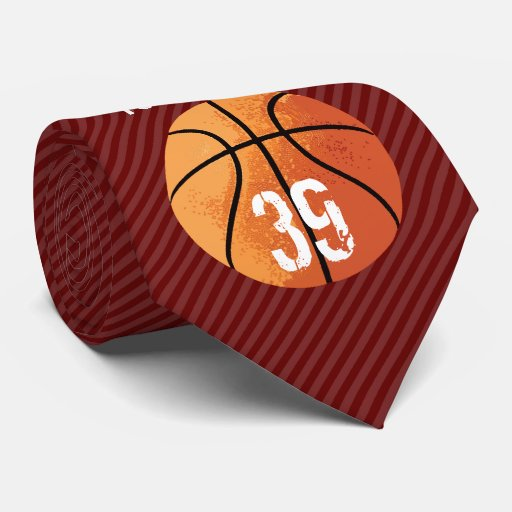 basketball personalizable tie zazzle