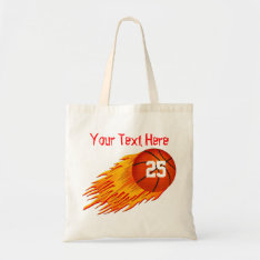 Basketball Personalized Canvas Tote Bag at Zazzle