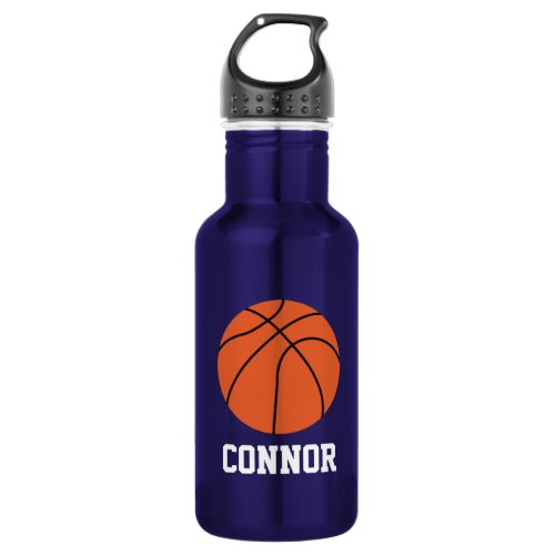 Basketball Personalized Kids Stainless Steel Water Bottle