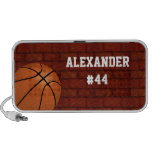 Basketball Personalized mp3 Speaker Accessory