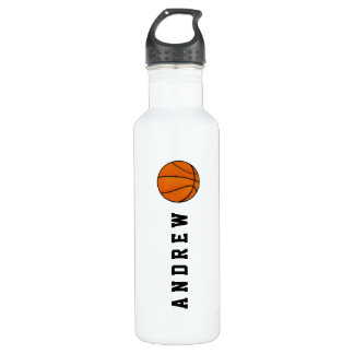 Basketball Personalized Name or Monogram Water Bottle