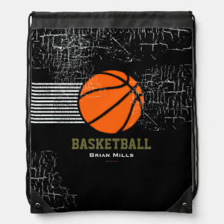 BASKETBALL personalized sport suggestion Drawstring Backpack