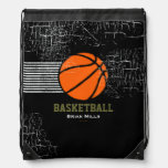 BASKETBALL personalized sport suggestion Drawstring Bag