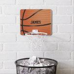 Basketball Personalized Sports Themed Mini Basketball Backboard
