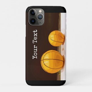 Basketball phone case with two basketballs