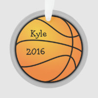 Basketball Photo Template Christmas Ornament