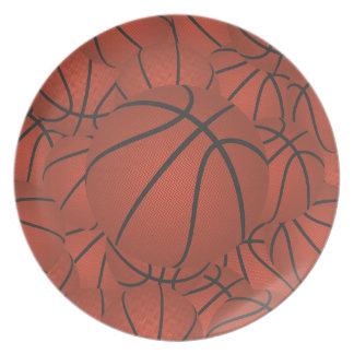 basketball pile melamine plate