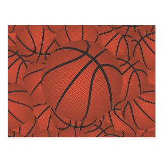 basketball pile postcard