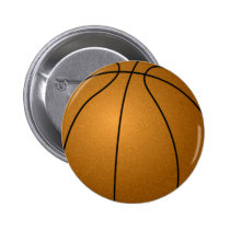 basketball pinback button