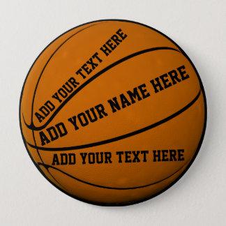 Basketball pinback buttons