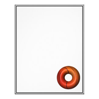 Basketball Plain Donut Letterhead