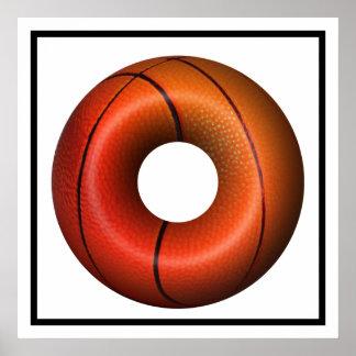 Basketball Plain Donut Posters