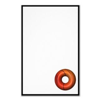 Basketball Plain Donut Stationery