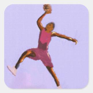 Basketball Play Art Square Sticker