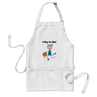 Basketball Play to Win T-shirts and Gifts Adult Apron