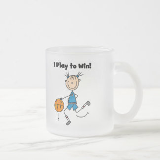 Basketball Play to Win T-shirts and Gifts Frosted Glass Coffee Mug