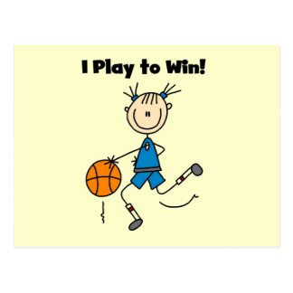 Basketball Play to Win T-shirts and Gifts Postcard