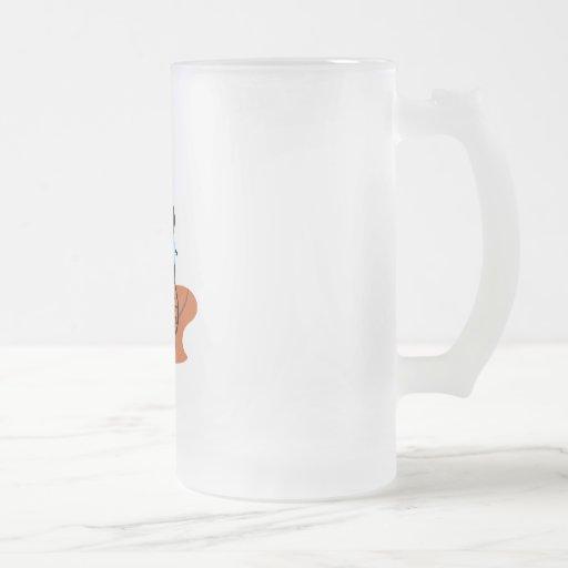 Basketball Player 16 Oz Frosted Glass Beer Mug