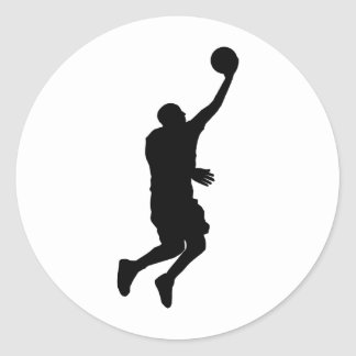 Basketball Player_2 Classic Round Sticker
