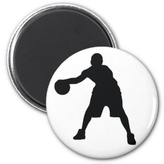Basketball Player 2 Inch Round Magnet