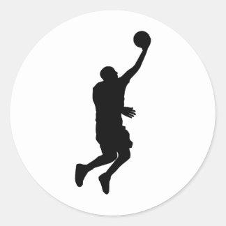 Basketball Player_2 Round Sticker