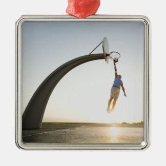 Basketball player 3 metal ornament