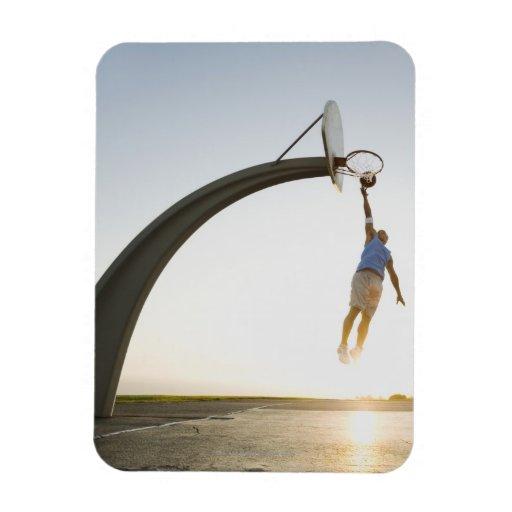 Basketball player 3 rectangular photo magnet
