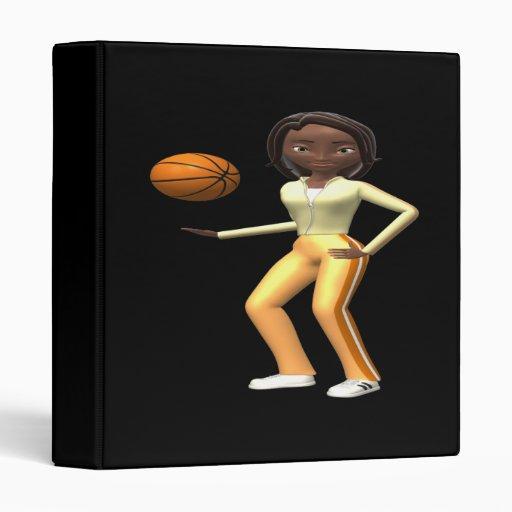Basketball Player 3 Ring Binder