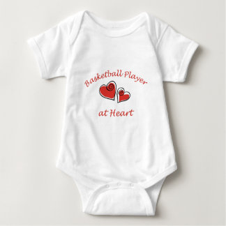 Basketball Player at Heart Baby Bodysuit