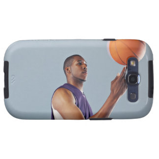 Basketball player balancing ball on one finger galaxy SIII case