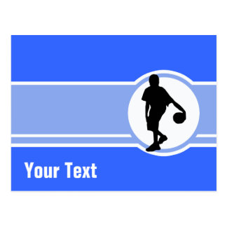 Basketball Player; Blue Postcard