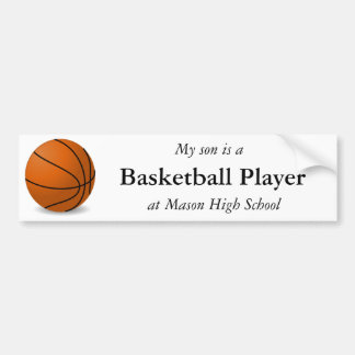 Basketball Player Bumper Sticker