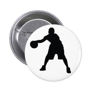 Basketball Player 2 Inch Round Button