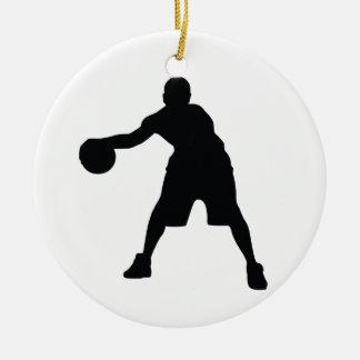 Basketball Player Ceramic Ornament