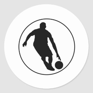 Basketball Player Circle Round Stickers