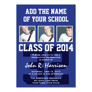 Basketball Player Class of 2014 Graduation Party 5x7 Paper Invitation Card