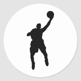 Basketball Player Classic Round Sticker