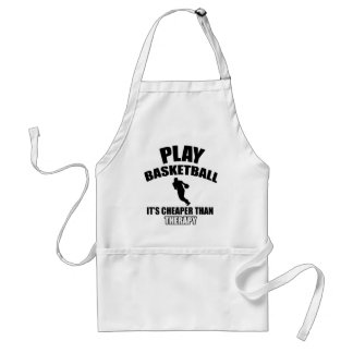 Basketball player designs adult apron
