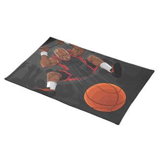 Basketball Player Doing Slam Dunk Place Mat