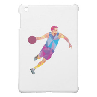 Basketball Player Dribble Front Low Polygon Case For The iPad Mini