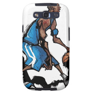 Basketball player dribbling ball samsung galaxy SIII case