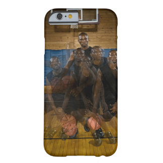 Basketball player dribbling ball on court barely there iPhone 6 case