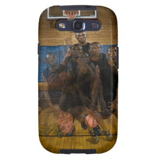 Basketball player dribbling ball on court galaxy SIII cover