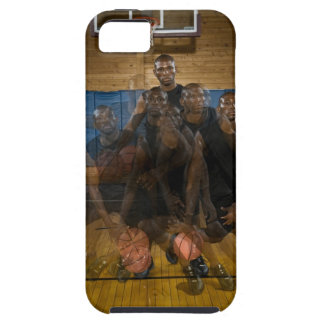 Basketball player dribbling ball on court iPhone SE/5/5s case