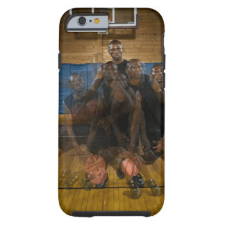 Basketball player dribbling ball on court tough iPhone 6 case