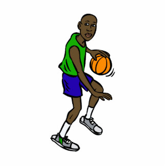 Basketball Player Dribbling Cut Out