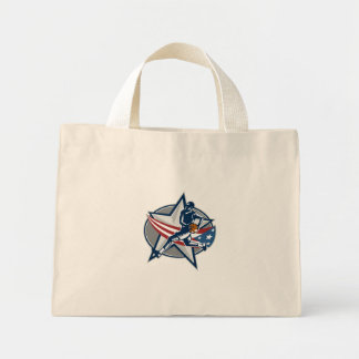 Basketball Player Fast Break Lay-Up Woodcut Canvas Bag