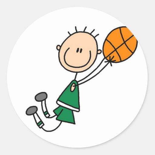 Basketball Player Getting Airborne Sticker