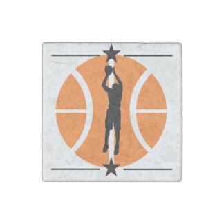 Basketball Player Stone Magnet