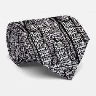 Basketball Player Graphic Sports Necktie Black